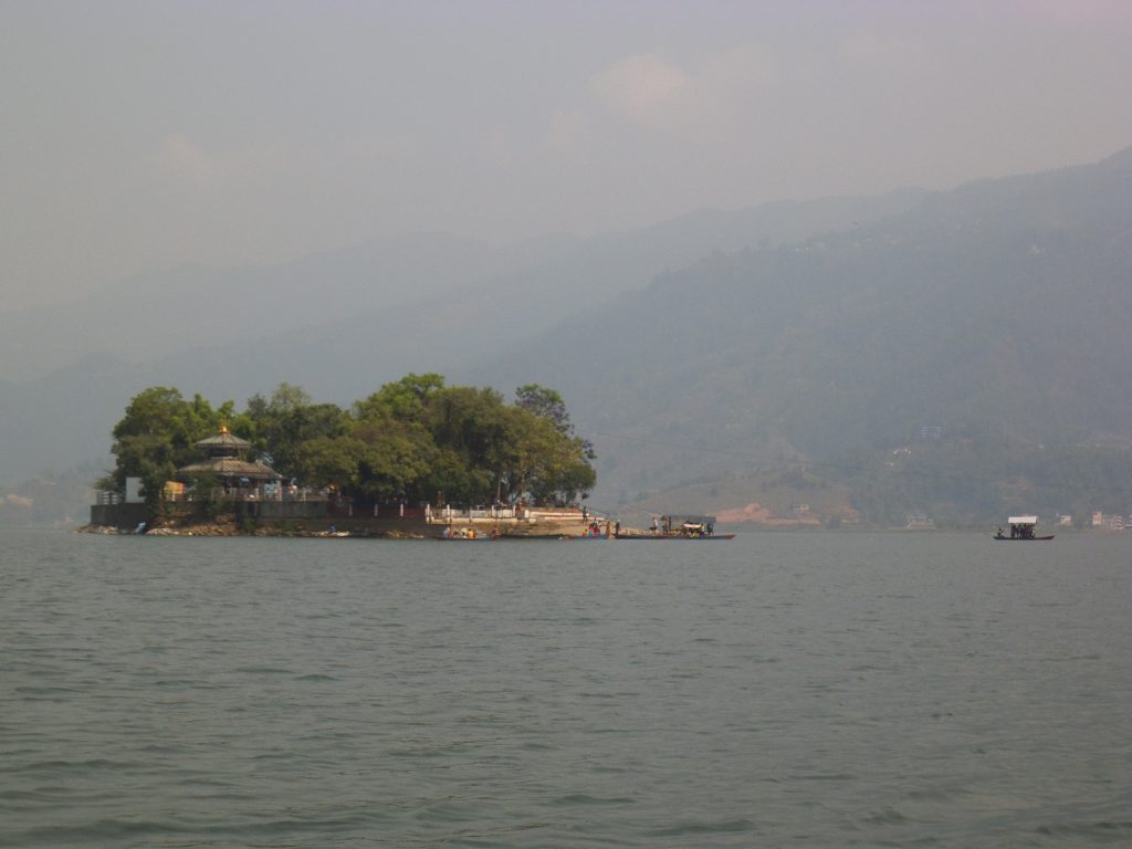 The island with the temple