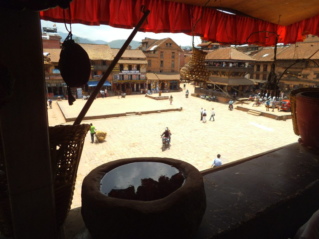 Restaurant view on the square