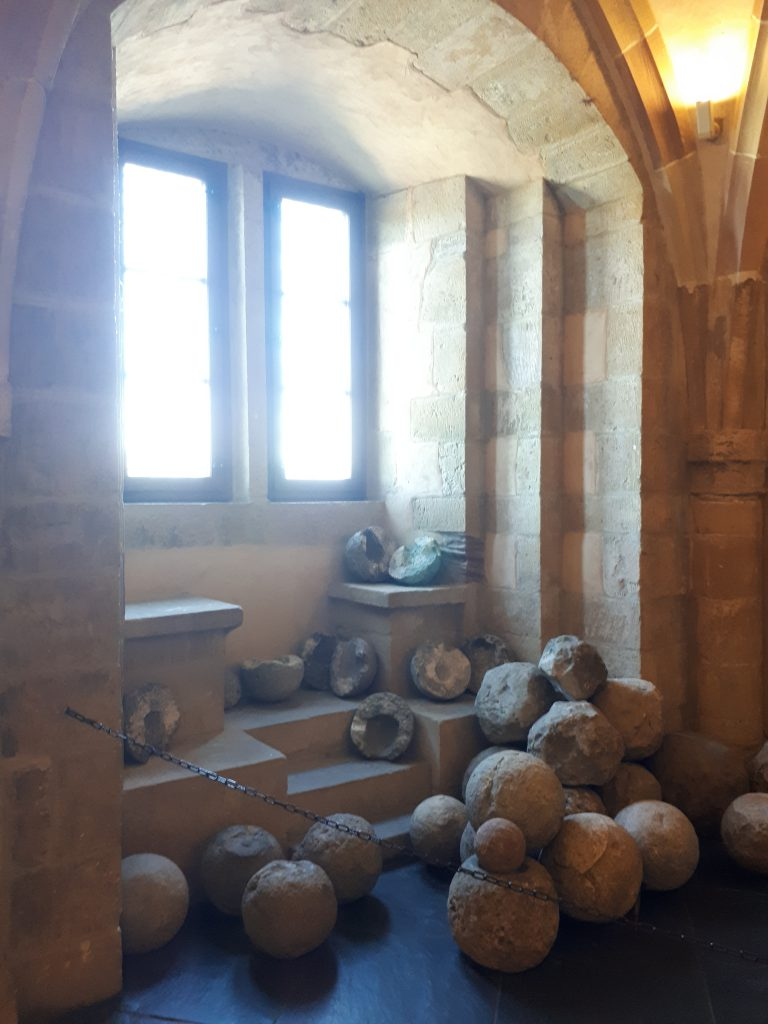 Canon balls in Castle of Vianden
