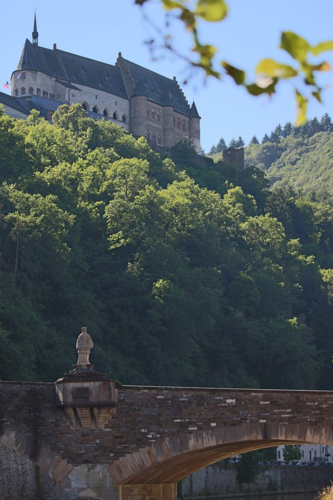 Castle of Vianden seen from the town