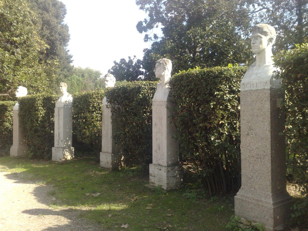 Statues in Borghese park