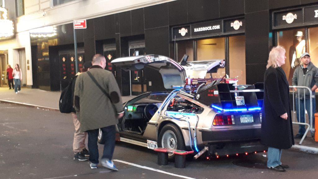 Back to the future DeLorean on Broadway