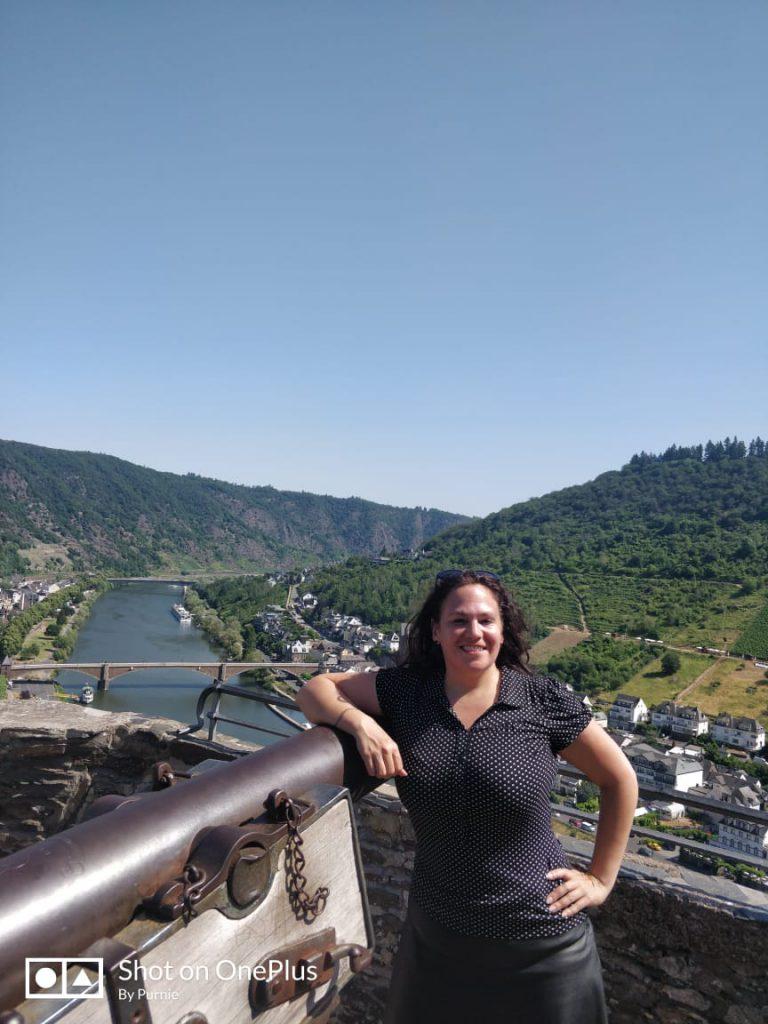 Me at the entrance of Reichsburg castle Cochem