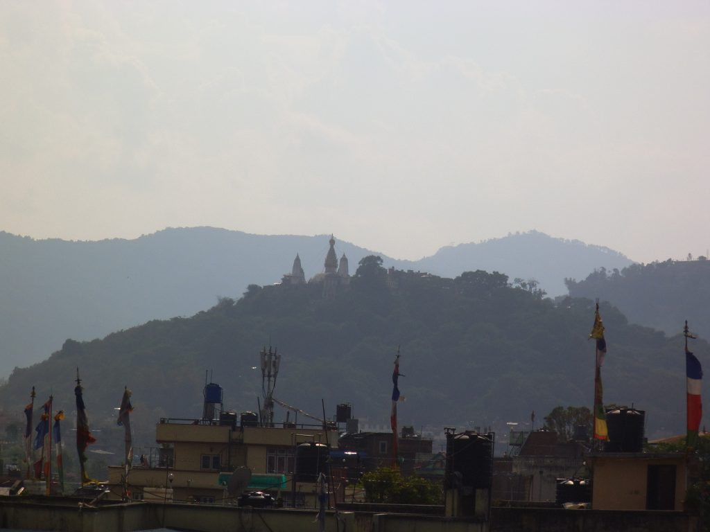 View from the hotel: the monkey temple