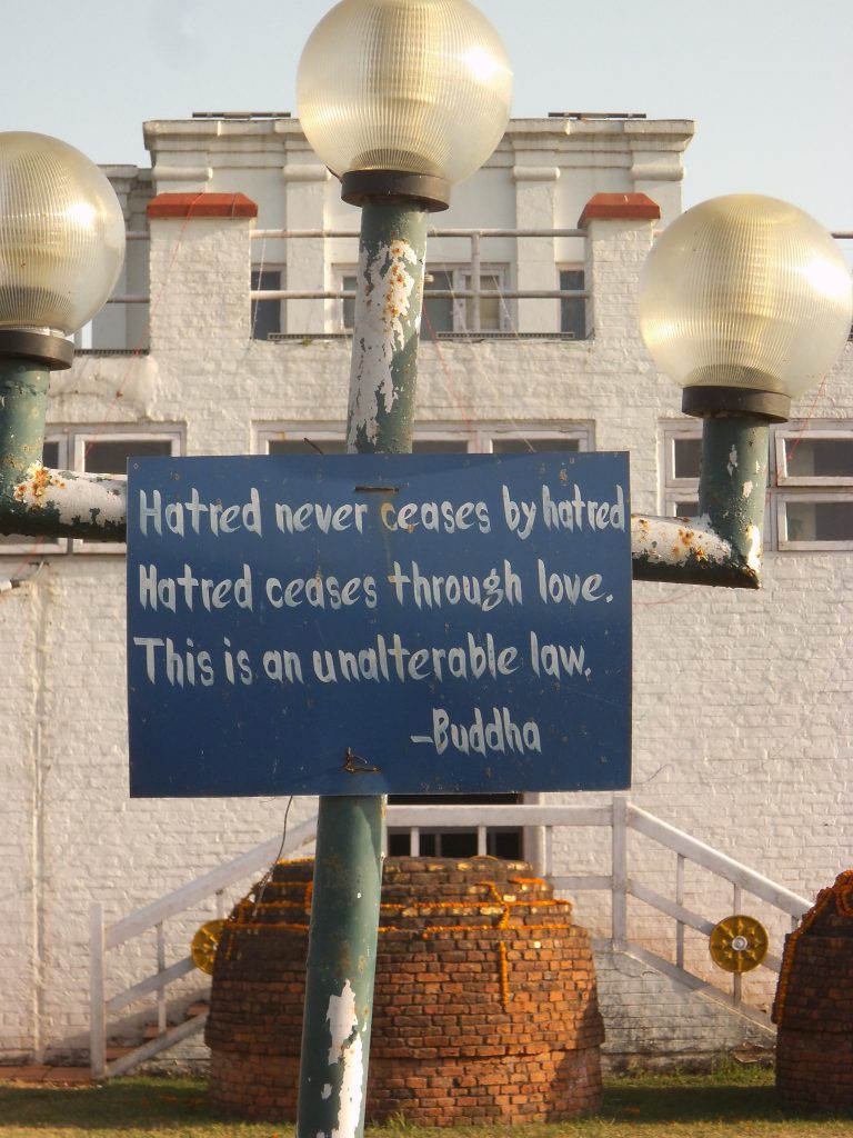 Pease and lve message from Buddha