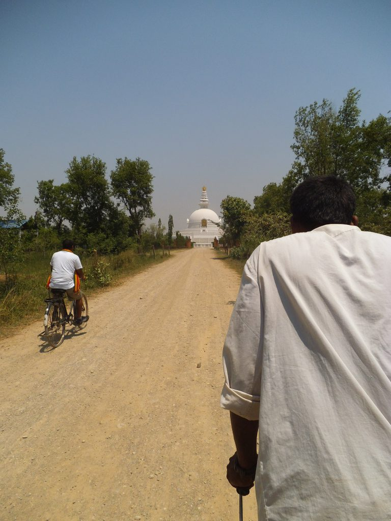 On a riksja to the the World Peace Pagoda