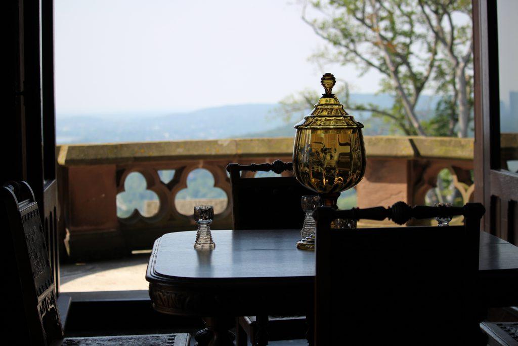 Balcony view Schloss Drachenburg