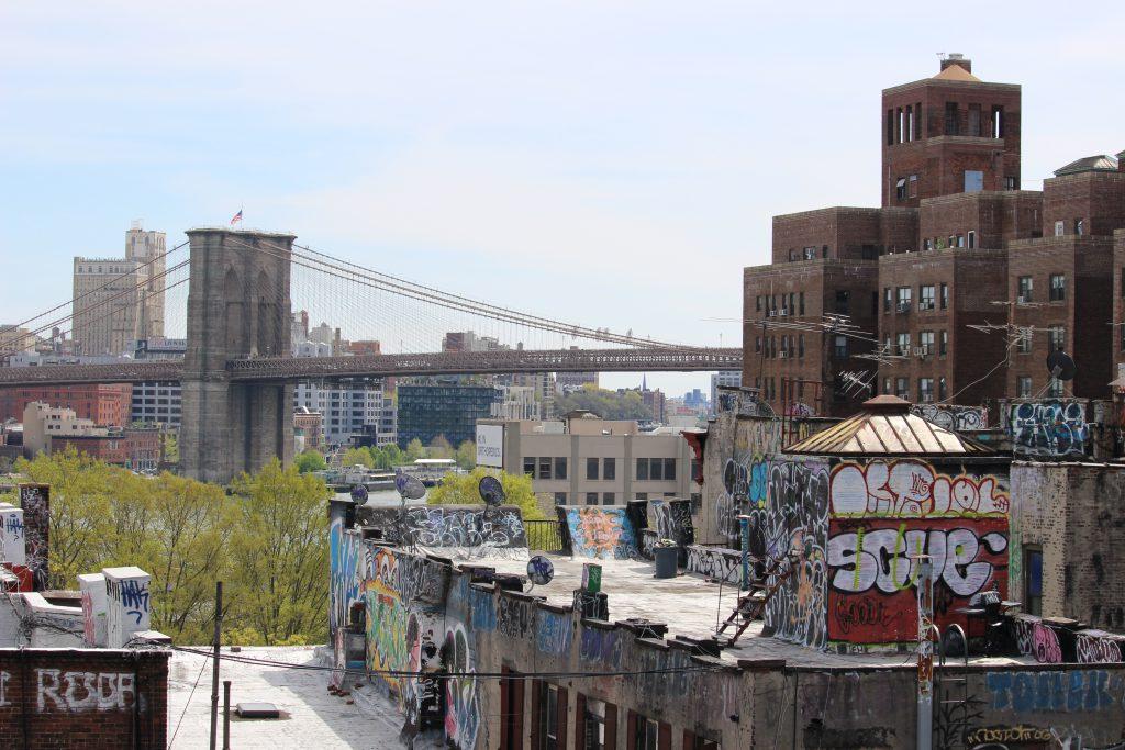 Brooklyn from the end of Manhattan bridge