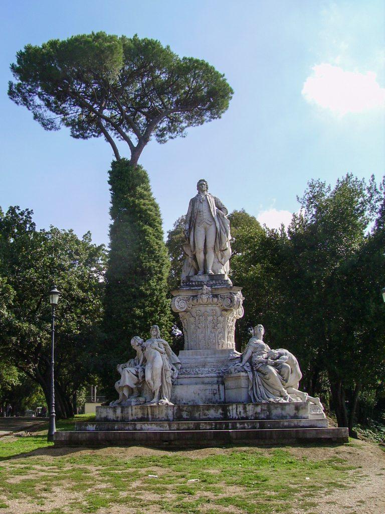 Statue at Villa Borghese park