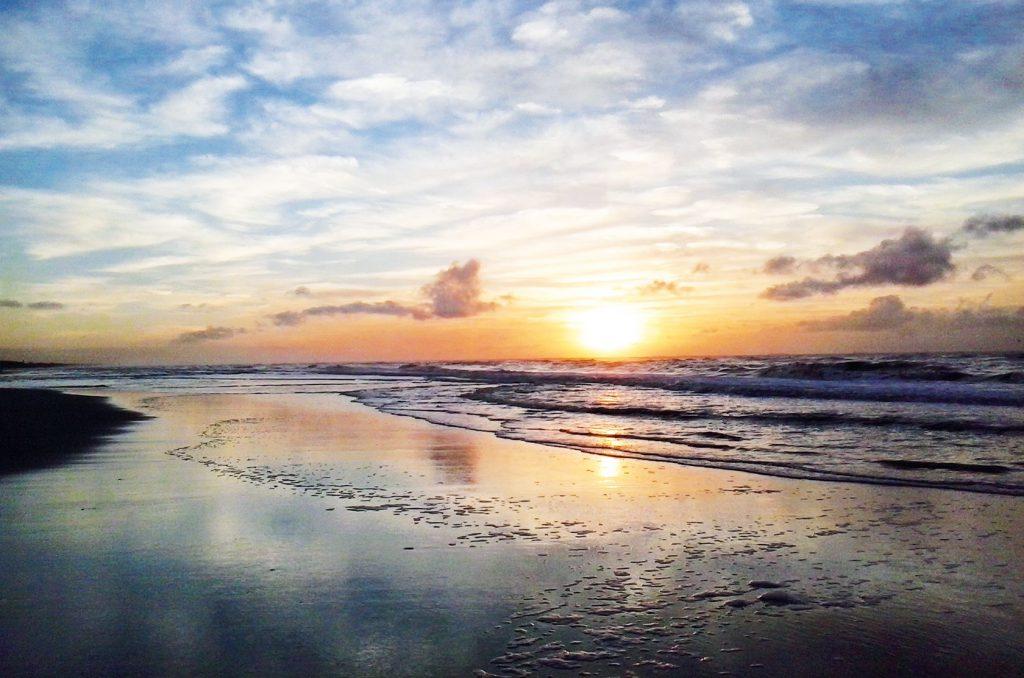 Sunset beach Noordwijk