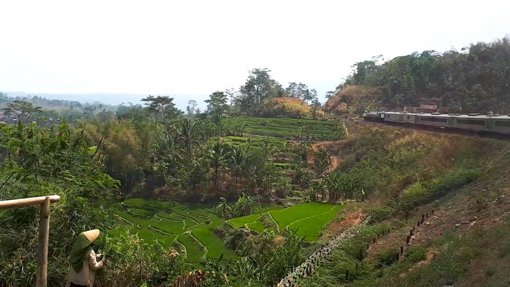 View from the train in Indonesia