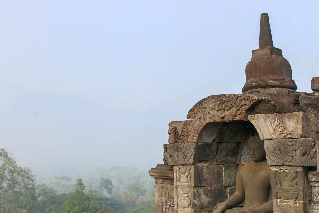 Borobudur just after sunrise